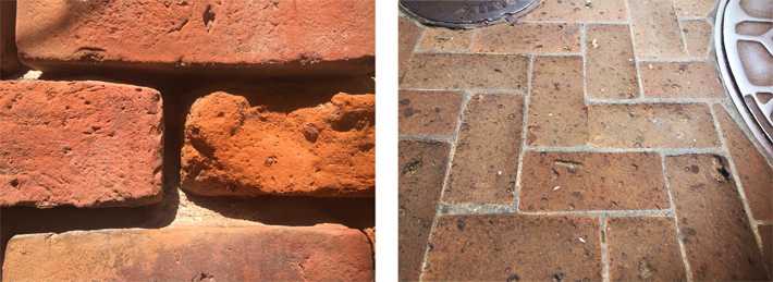 Different preservation issues with historic brick