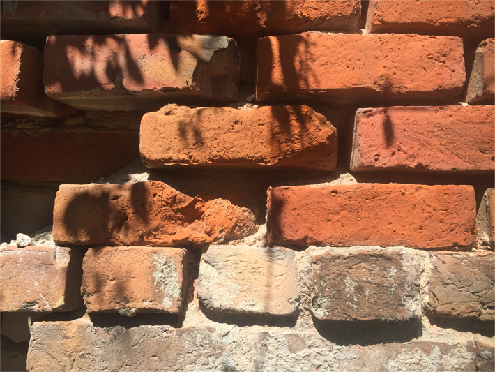 Soft New Orleans brick wall in French Quarter
