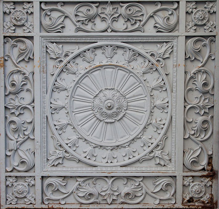 Cast iron detail from New Orleans Custom House by Carol Highstreet
